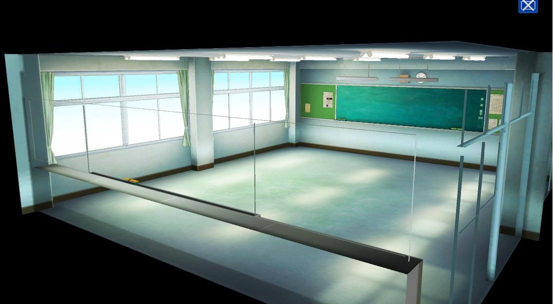 教室 3D 背景