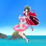 ハニーブレイド・3D背景「ビーチ」で3D作品をつくる、動画付