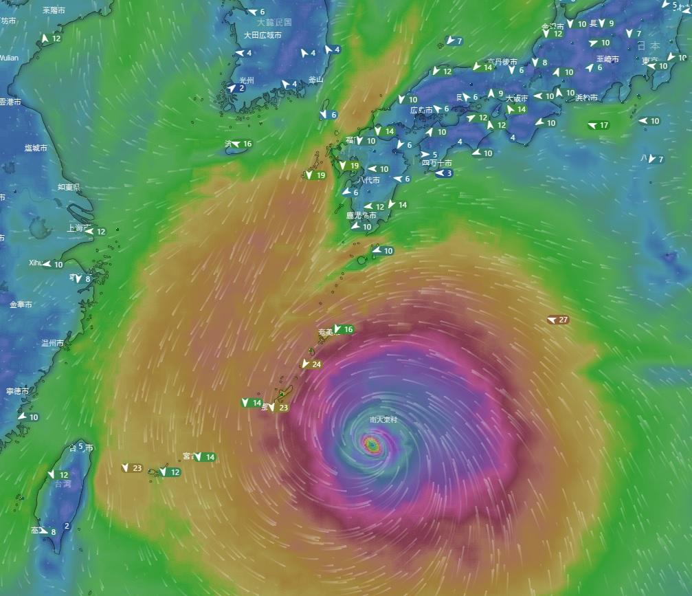 台風10号 九州接近